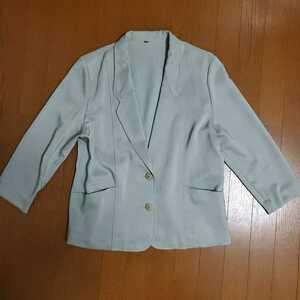 テーラード ジャケット スーツ 上着 パステルカラー ミント ライトグリーン オフィス フォーマル レトロ