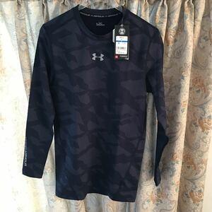 新品アンダーアーマー 長袖インナーシャツ ネイビーSサイズ コールドギア コンプレッション 野球 サッカー ゴルフ ランニング ジム