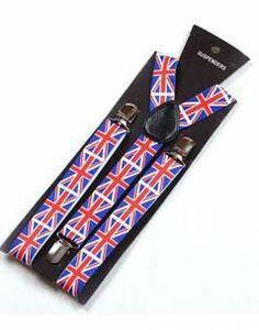 サスペンダー イギリス国旗 ユニオンジャック 男女兼用