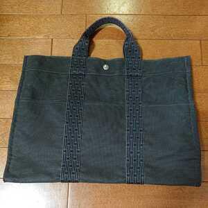 エルメス エルメスエールライン トートバッグ フールトゥ HERMES バッグ 男女兼用 ビジネスカバン 鞄 かばん 黒 ブラック