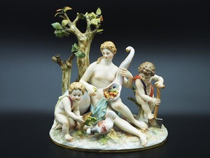【超希少品】マイセン MEISSEN 地球のアレゴリー 豊穣の季節 ケンドラー造形 フィギュリン 人形 女神