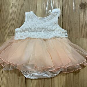 送料無料☆ベビードレス ワンピース ロンパース チュールスカート 70cm 丸高衣料 kids zoo