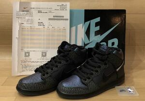 【26.5cm】新品 Nike Sb Dunk High Pro Qs Black Sheep Skate Shop ALL STAR Hornet BQ6827-001 ナイキ ダンク ハイ プロ ホーネッツ 8776