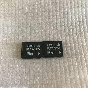 翌日配送 PS Vita メモリーカード 16GB 2枚セット SONY PlayStation Vita VITA ソニー 動作品