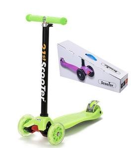 グリーンカラー キックボード 子供用 3輪 ブレーキ付き キックスケータ バランスバイク 3輪キッズスクーター キックスケータ プロテクタ