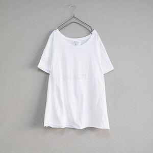 H&M★Tシャツ 無地 トップス カットソー 白シャツ ホワイト 半袖 切りっぱなし リメイク DIY レディース メンズ ZARA ユニクロ gu Mサイズ