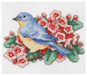 Bucilla クロスステッチキット◆青い鳥 Blue Bird◆初心者向け スターターキット 手芸キット◆アメリカ直輸入!正規品です。