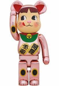 極少生産 新品 国内品 1000% BE@RBRICK 招き猫 ペコちゃん 桃金メッキ ベアブリック メディコムトイ MEDICOM TOY 不二家 ピンク pink 桃色