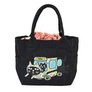 ペブリー pebbly ララキューブ LALACUB ストーン ネコ 猫 ねこ ストーン付 トートバッグ トートバック トート バッグ バック(M)新品 未使用