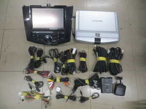 N199-8 アルパイン VIE-X088V HDD 4×4地デジ内臓ナビ 2014年 フリップ/ETC/ドラレコ/バック/専用パネル/取説フルセット