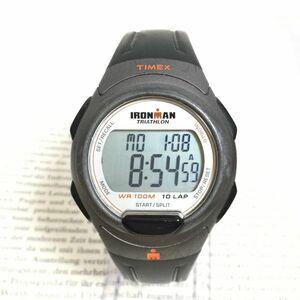 ★TIMEX IRONMAN TRIATHLON 多機能 腕時計★ タイメックス アイアンマン トライアスロン 10LAP アラーム クロノ タイマー 稼動品 F2035