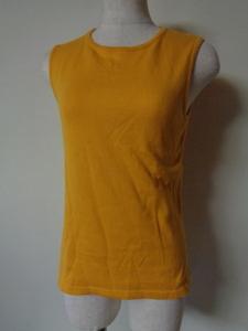 agnes b. アニエスベー タンクトップ ノースリーブ カットソー 黄色 T2サイズ