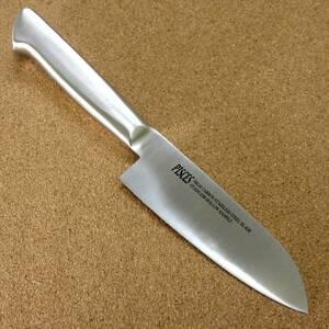 関の刃物 小三徳包丁 13.5cm (135mm) PISCES (パイシーズ) モリブデン ステンレス一体型ハンドル 魚の処理 肉切り 両刃万能包丁 文化包丁
