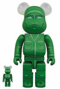 ★新品★ベアブリック 100% & 400% BE@RBRICK グリーンアーミーメン トイ・ストーリー GREEN ARMY MAN MEDICOMTOY BASQUIAT bape kaws