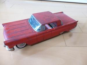 昭和レトロ◆ブリキ◆車◆赤◆26cm