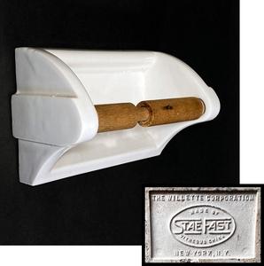 1930's N.Y. アンティーク トイレットペーパーホルダー/アールデコ/モダン/ビンテージ/照明/ランプ/バウハウス/ドイツ/什器/gras/o.c.white