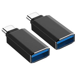 【未使用】 USB-C 変換アダプター 高速転送 Type-C機器対応 ブラック