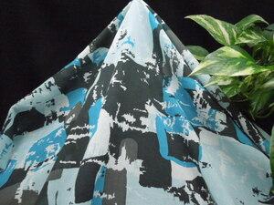 現品限り!掘り出し品!日本製!高級ブランドオリジナル!なかなか手に入らない!糸細上質!コットン&シルクプリント112cm巾×2m