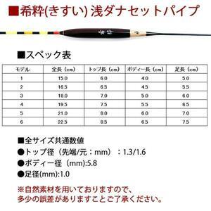 へら浮き 希粋(きすい) カヤ 浅ダナセットパイプ 6号 (10200-6)