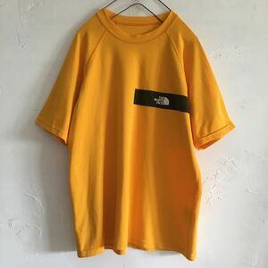 THE NORTH FACE ノースフェイス Tシャツ 半袖Tシャツ 09 ザノースフェイス ポリエステル100% イエロー メンズ レディース 古着 アウトドア