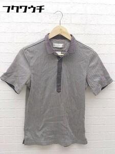 ◇ ◎ MONSIEUR NICOLE ムッシュニコル 半袖 ポロシャツ サイズ46 グレー系 メンズ