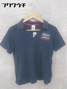 ◇ le coq sportif ルコックスポルティフ 半袖 ポロシャツ サイズO ネイビー レッド ホワイト メンズ