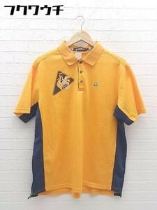 ◇ le coq sportif ルコックスポルティフ 半袖 ポロシャツ サイズLL オレンジ メンズ