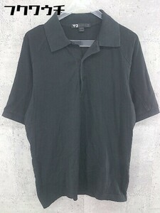 ◇ Y-3 Yohji Yamamoto × adidas コラボ 半袖 ポロシャツ サイズS ブラック メンズ