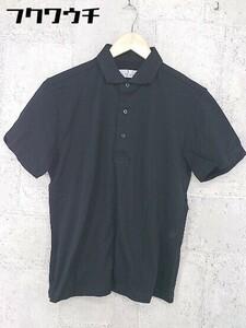 ◇ ●新品● ◎ MONSIEUR NICOLE ムッシュニコル タグ付き 鹿の子 半袖 ポロシャツ サイズ48 ブラック メンズ