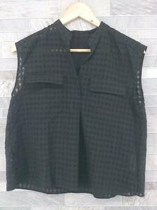 ◇ ◎ ROPE ロペ ノースリーブ シャツ 36 ブラック レディース