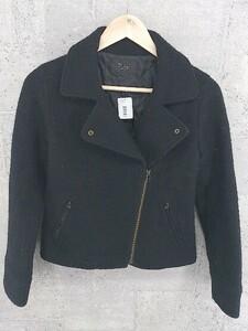 ◇ Ray BEAMS レイ ビームス ライダース風 長袖 ジャケット 1 ブラック レディース