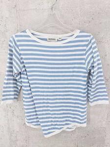 ◇ BEAMS BOY ビームスボーイ ボーダーー 七分袖 Tシャツ カットソー ブルー オフホワイト * 1002797205698