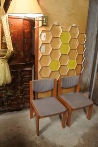 北欧家具 ビンテージ ダイニングチェア 2脚セット/ヴィンテージ アンティーク 椅子 木製 デンマーク