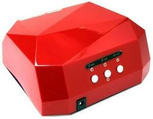 【1円】LEDライト36W ネイルドライヤー ジェルネイルライト レジン 自動センサー搭載 タイマー付きハイパワー 硬化ライト レッド
