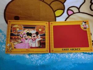 ②TDR フォトファン アンバサダーホテル 5周年 シェフミッキー 東京ディズニーリゾート 写真 フォト 台紙 実写★TDS TDL ミッキー ミニー