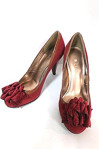 【新古品】【未使用】DIANA ダイアナ 靴 レディース パンプス 秋冬 赤 ヒール高約8センチ 小さいサイズ 21.5cm