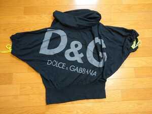 即決!D&GガバッっとTシャツプルオーバー黒ブラックドルチェ&ガッバーナ