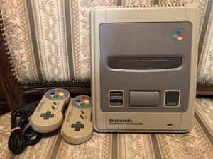任天堂 Nintendo スーパーファミコン ファミコン本体 SFC 後期型 コントローラー2個付き