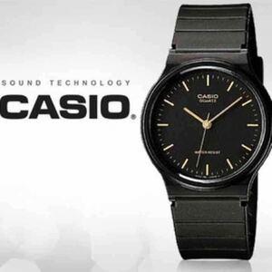 【CASIO】チープカシオ 腕時計 1E ブラック×ゴールド/アナログ/カシオ/スタンダード/クオーツ/チプカシ/ウォッチ/ユニセックス/防水/新品/