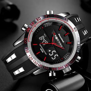 【送料無料】Readeel ブランドスポーツ腕時計メンズ腕時計トップブランドの高級男性腕時計防水 LED 電子デジタル男性レロジオの masculino