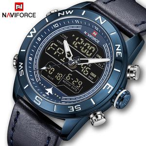 ★値下げ交渉可★2019 メンズ腕時計トップブランド NAVIFORCE 男性ファッションスポーツ男性の防水クォーツデジタル Led 時計メンズ軍事腕