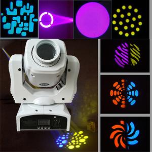 【送料無料】60W LED 8ゴボス8色RGBWムービングヘッドステージ効果ライト 9/11チャンネルオートランDMX512【領収発行可】