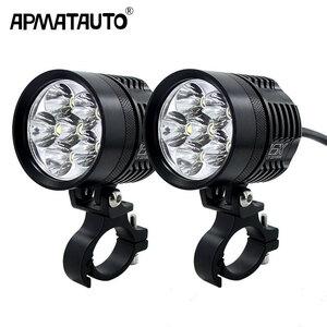 【送料無料】2X 12000LM 6000 18K LED オートバイバイクヘッドライト電球防水 DRIVING SPOT フォグランプ外部モ【領収発行可】