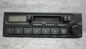 ホンダ 純正 カセット テープ ラジオ オーディオ デッキ 39100-S2K-0030 PH-1617G-B AM FM 1DIN 0058621 4LT0