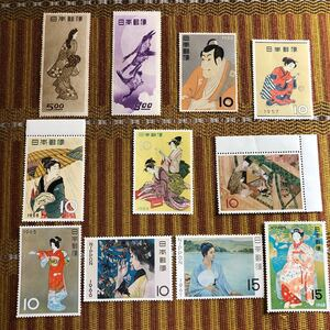 カタログ価40,420円!切手趣味週間初期11種! 見返り美人! 月に雁!貴重!