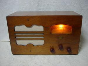 電気文化物 復元・整備済み 完動品 !! ナナオラ ( 七歐無線・国民2号受信機C型 ) 製 オールド 真空管 ラジオ