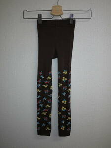 50% OFF / 20 autumn / winter / new / immediate ☆ Kids Foret ☆ 105 / small floral pattern 9 minute length leggings