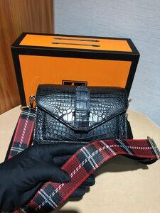 ワニ革保証 クロコダイル レザー 腹部革 本革 2way 斜め掛け ワンショルダーバッグ 鞄 クラッチ レディースバッグ 肩掛け ハンドバッグ
