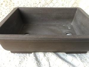 植木鉢 鉢 盆栽 盆栽鉢 ガーデニング 浅型 陶器 長方形 フラワーポット 落款 開洋製陶 常滑焼 48