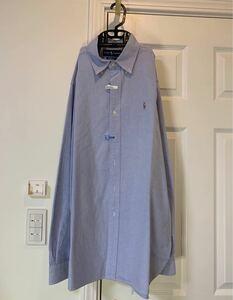 Ralph Lauren POLOラルフローレン 長袖シャツ 大きいサイズ L XL XXL 2XL ブルー ポニー